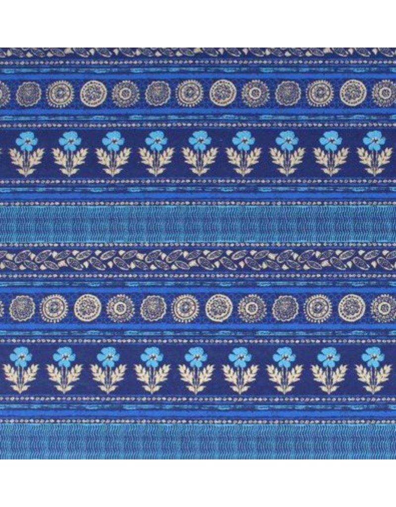 cotton, flower-stripe