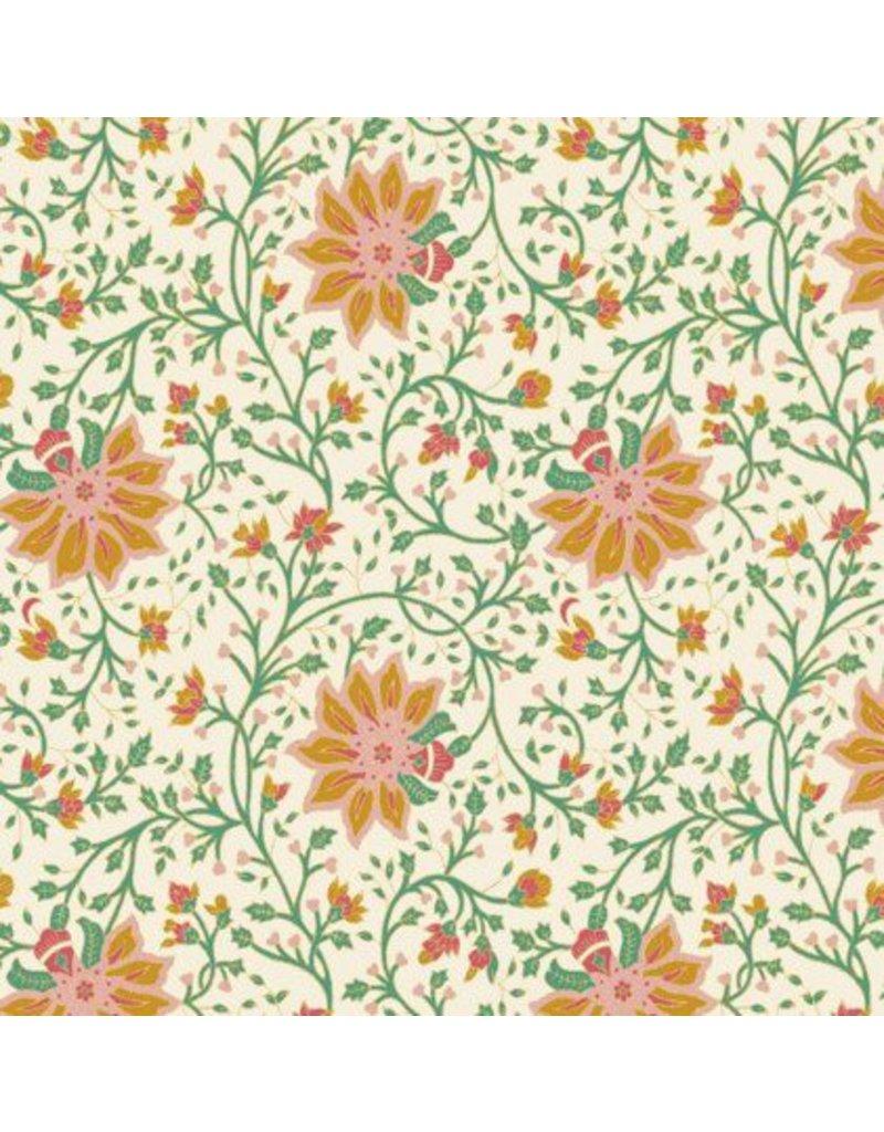 Cotton paper floral pattern