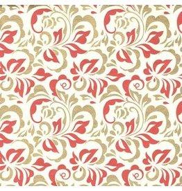 AE156 Katoenpapier fantasie bloemen