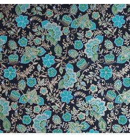 AE160 Papier de coton floral fantaisie.