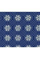 Coton papier bloc imprimes points et cercles