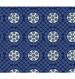AE163 Katoenpapier blokprint stippen en cirkels