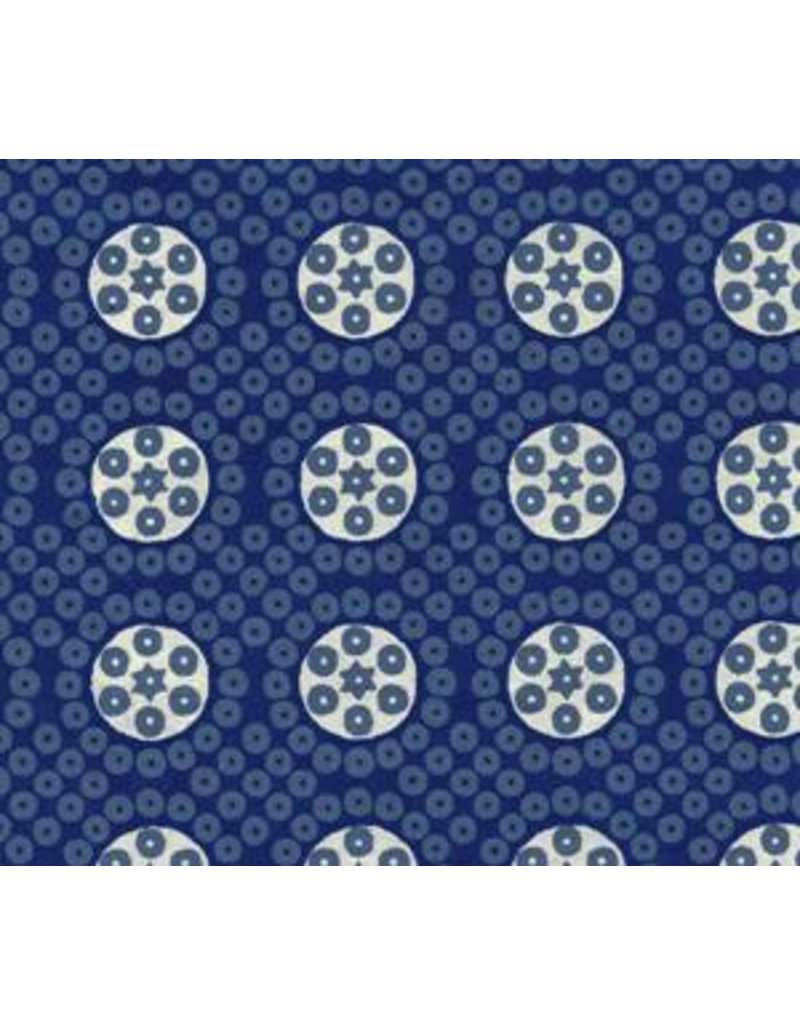 Cotton paper block print dots and circles