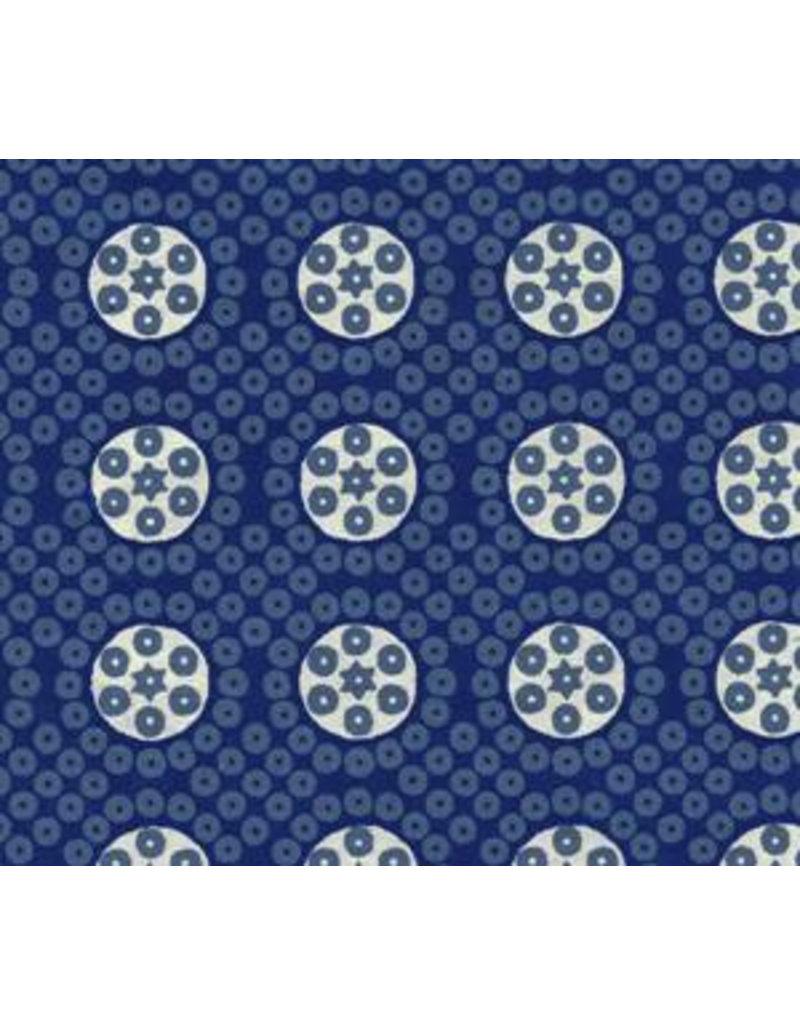 Katoenpapier blokprint stippen en cirkels
