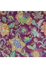 Papier de coton avec motif de fleurs