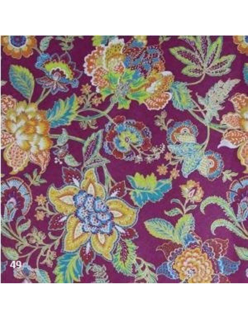 Baumwollpapier mit Blumenmuster