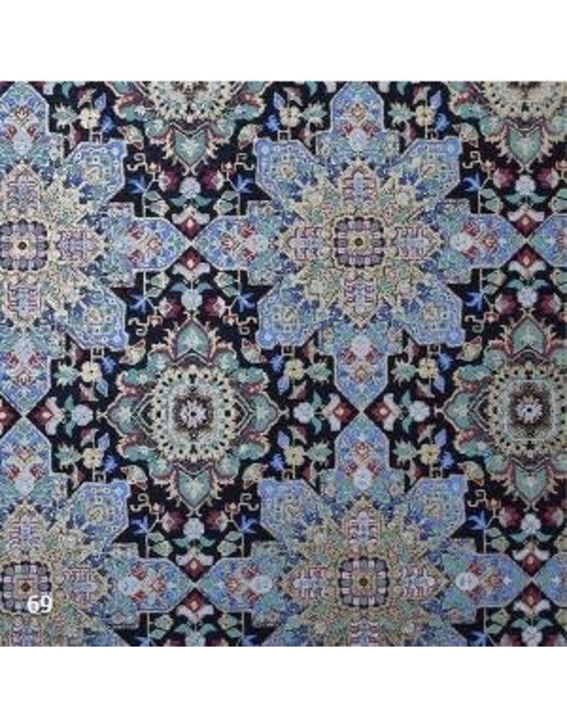 Papier coton impression fleur fantaisie