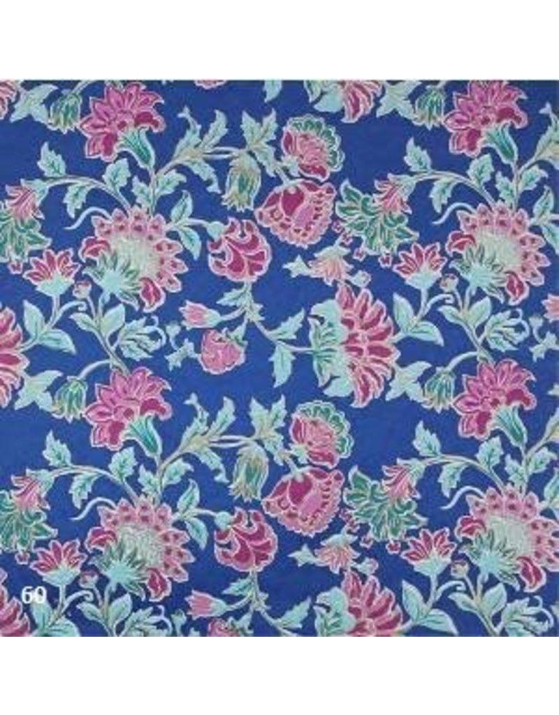 Papier coton impression florale