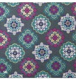 AE182 Papier de coton bloc/impression de fleurs