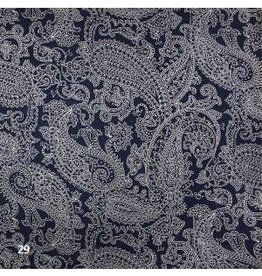 AE183 Cotton paper with paisley print