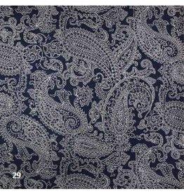 AE183 Papier de coton avec impression paisley