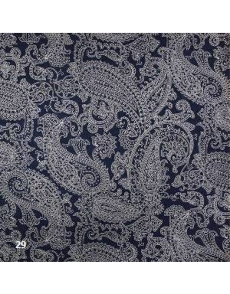Cotton paper with paisley print
