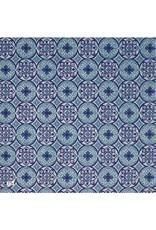Katoenpapier met grafische cirkelprint