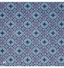 AE185 Katoenpapier met grafische cirkelprint