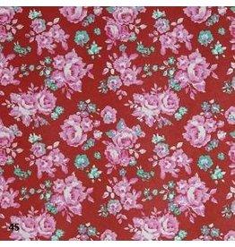 AE186 Papier de coton avec imprime floral