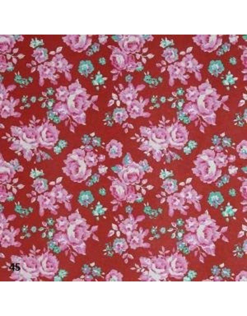 Cotton paper floral print
