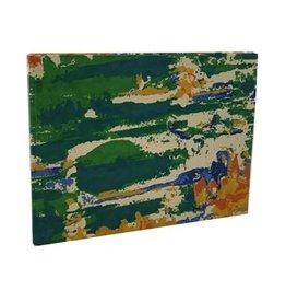 AE268 Gastenboek katoenpapier bloempatroon