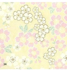 JP215 Papier japonaise conception floral, 3 coul.