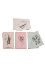 Cartes de papier bouse d'elephant
