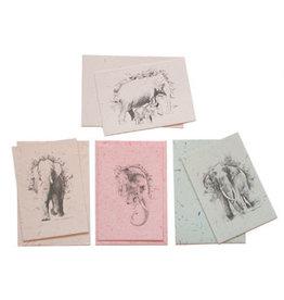MX002 Set 6 kaarten olifantenpoeppapier