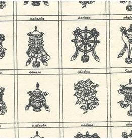 NE185 papier lokta dieux hindous