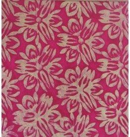 NE192 Batik Papier grossen Blumen