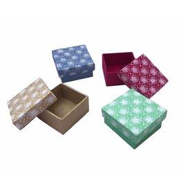 NE507 Set of 4 boxes, flowerprint