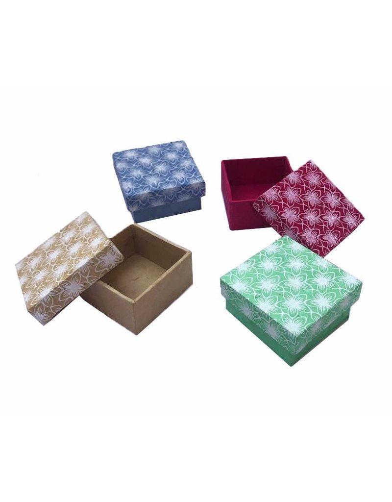 Satz von 4 Boxen, Blumedruck