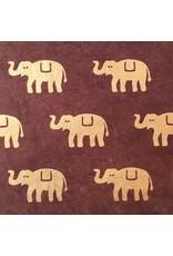 Lokta paper with elephants