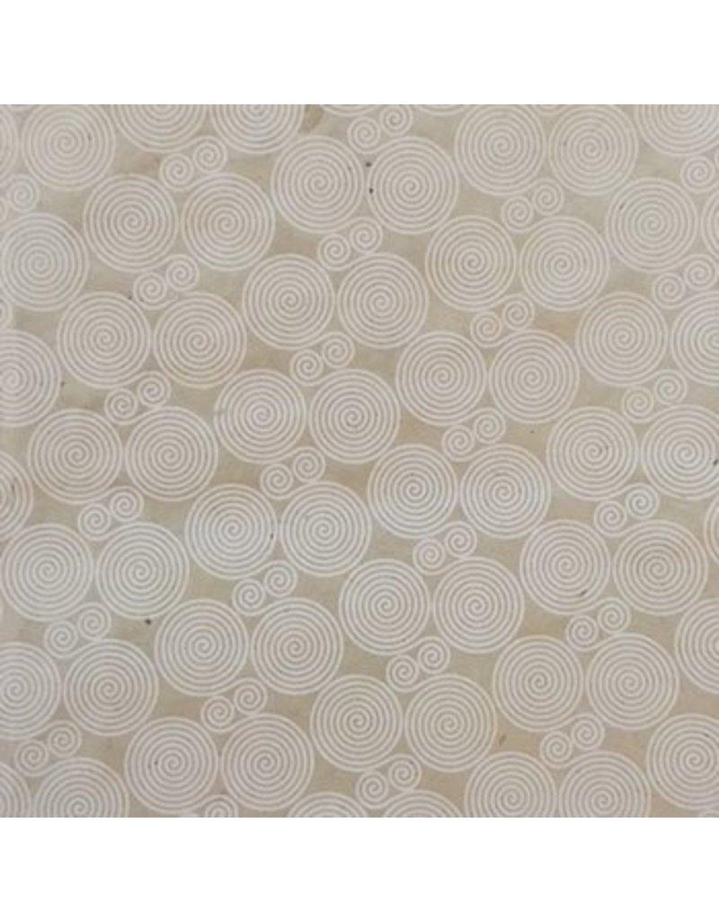 Lokta papier spiraal print