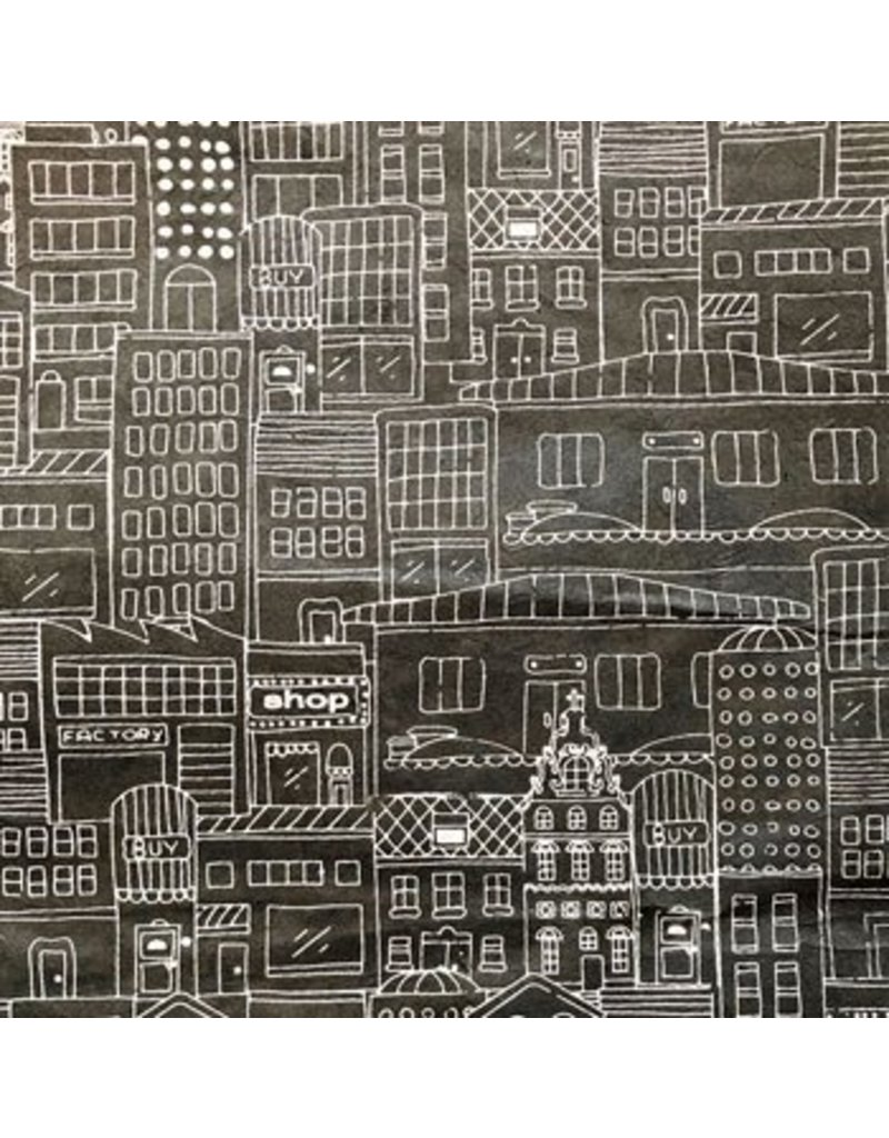 Lokta paper with house print