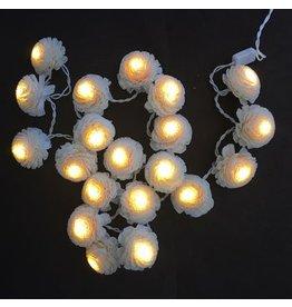 TH063 Lichtkette mit Jasminblüten.
