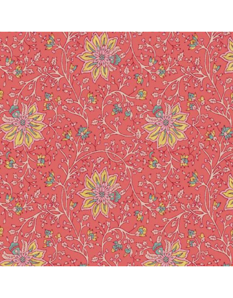 Papier de coton motif floral