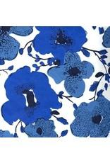 Katoenpapier bloemenfantasie in 2 kleuren