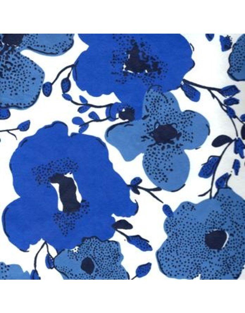 Papier de coton floral fantaisie en 2 couleurs