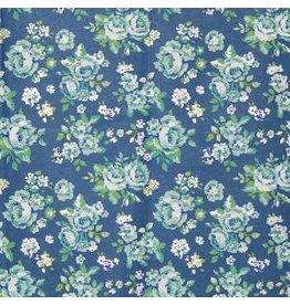 AE186 Katoenpapier bloemenprint