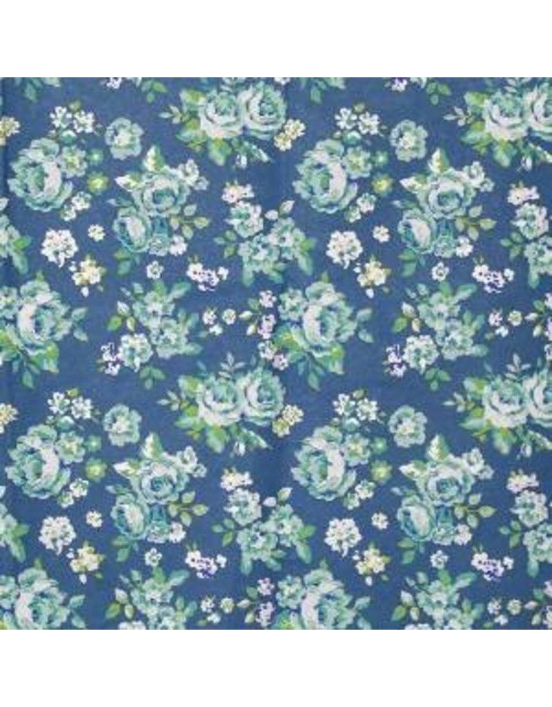 Baumwollpapier mit Blumendruck