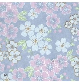 JP215 Japanese paper floral design, 3 col.
