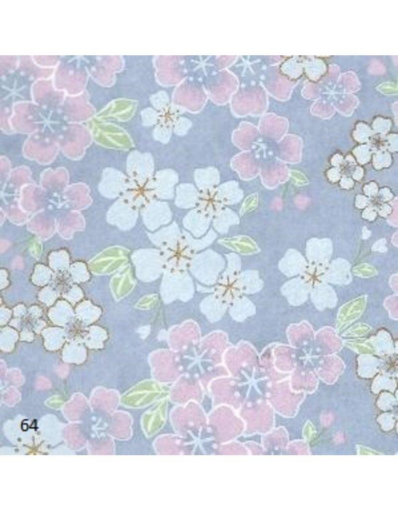 Papier japonais avec impression de fleurs