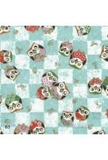 Papier japonais avec imprimee hibou