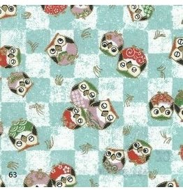 JP220 Japanese paper with owls print, 2 col.