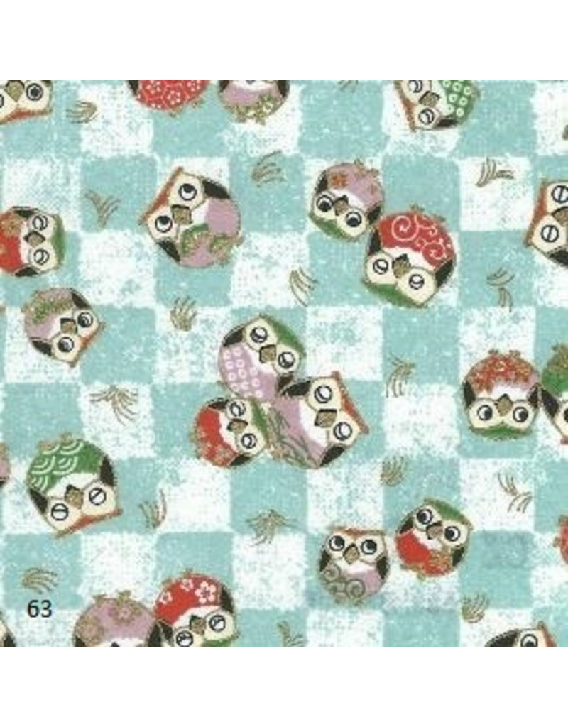 Japanese paper with owls print