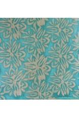 Lokta Papier mit gebatikten Blumen