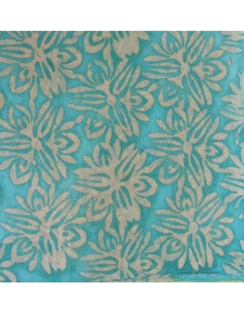 Papier Lokta avec fleurs batikées
