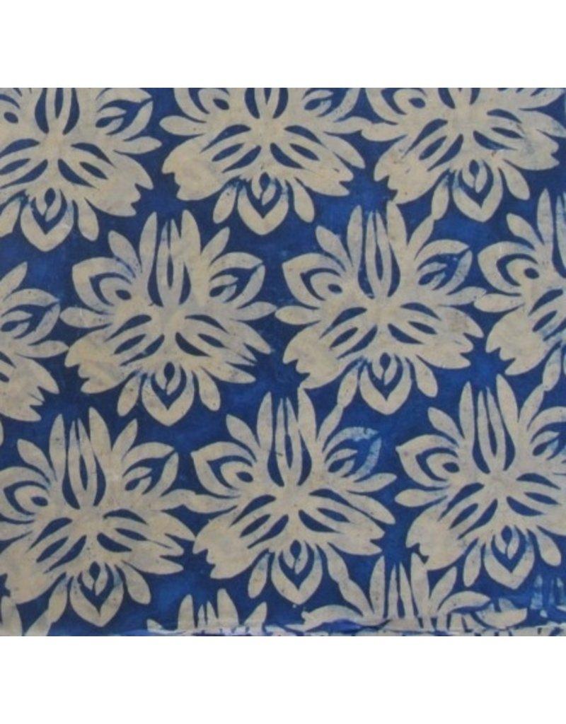 Loktapapier met gebatikte bloemen
