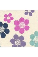 Lokta kleurige bloemen