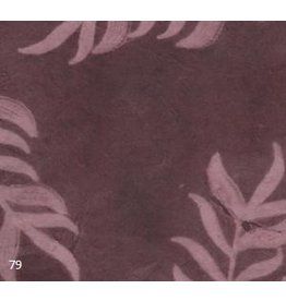 NE455 Lokta papier met bladprint