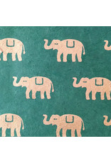 Lokta papier met olifantjes print