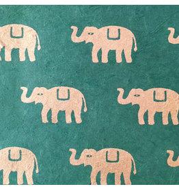 NE802 Lokta papier met olifantjes print