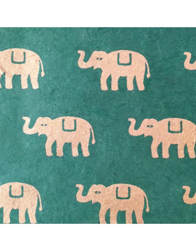 Papier Lokta avec impression d'éléphants